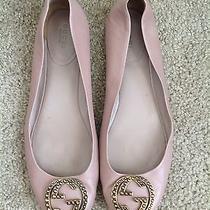 Gucci Blush Pink Gold Gg Nappa Charlotte Ballet Flats Size 39 1/2 or 9.5 Photo