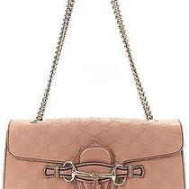 Gucci Blush Pink Guccissima Leather Medium Emily Horsebit Shoulder Handbag Photo
