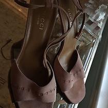 Gucci Blush Suede Stiletto Sandals - Size 9 Photo