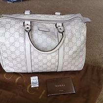 Gucci Boston Bag  Off White Leather  Photo