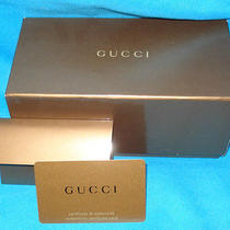 Gucci Box With Authenticity Card Photo
