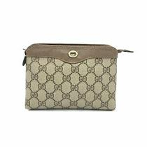 Gucci Brown Gg Supreme Coated Canvas Mini Pouch Cosmetic Clutch Bag Vintage Photo