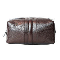 Gucci Brown Leather Clutch Vanity Bag. New Photo