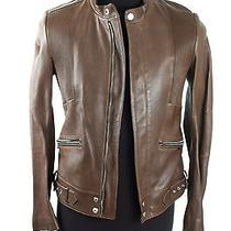 Gucci Brown Leather Jacket Photo
