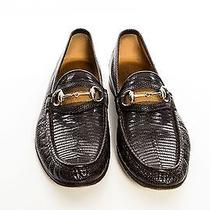 Gucci Brown Leather Loafers  Photo