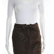 Gucci Brown Silk Tie Waist Mini Skirt Eur Sz 42 Photo