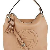Gucci Camelia Pebbled Leather Soho Hobo Bag Authentic Photo