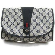 Gucci Clutch  Navy Blue Pvc 708596 Photo