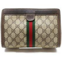 Gucci Clutch Old Gucci Shelly Pouch Beiges Pvc 1905355 Photo
