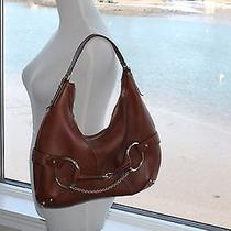 Gucci Cognac Leather Horsebit Hobo Bag Photo