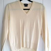 Gucci Cream v-Neck Wool Sweater  Photo