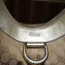 Gucci D Ring Gold Colored Canvas Purse Handbag Med-Large Size  Photo