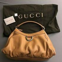 Gucci D Ring Leather Hobo Bag Photo