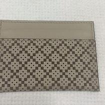 Gucci Diamante Laser Leather Card Case in Gift Box Tan Made in Italy 220 Photo