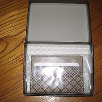 Gucci Diamante Mens Card Case Brand New in Box Retails 220 Beige 100% Authentic Photo