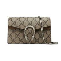Gucci Dionysus Supreme Monogram Super Mini Taupe Brown Gg Canvas Shoulder Bag Photo