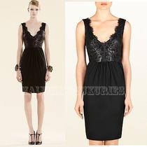 Gucci Dress Black Lacquered Lace Detail Deep v-Neckline L Large Photo