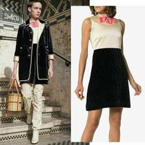 Gucci Dress Sleeveless Velvet With Crystal Bow 3200 Sz It 40 Us 4 Photo