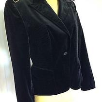 Gucci Fitted Black Velvet Jacket With Apulets Photo