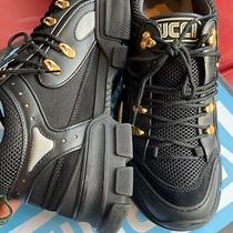 Gucci Flashtrek Black Mens Sneakers With Sz 10 Chunky Height Increase Photo