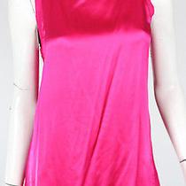 Gucci Fuchsia Pink Silk Satin Front Sleeveless Top S Photo