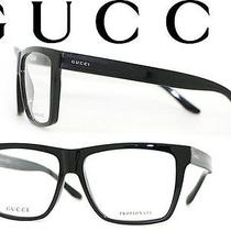 Gucci Gg 1008 52r Designer Eyeglasses Bksmth Shiny Authentic Frame With Case Photo