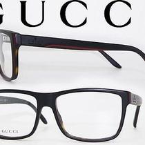 Gucci Gg 1024 I31 Bkred Grnhav Designer Eyeglasses  Authentic Frame With Case Photo