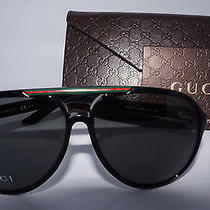 Gucci Gg 1627/s D28 Shiny Black Unisex Sunglasses Photo
