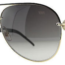 Gucci Gg 4230/s 6deha Gold/brown W/ Crystals Aviator Unisex Sunglasses Photo