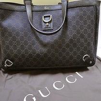 Gucci Gg Abbey 804748734 Signature Brown Leather Canvas Purse Handbag Tote Nwt Photo