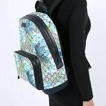 Gucci Gg Blue Blooms Backpack Photo