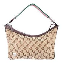Gucci Gg Canvas Shoulder Bag - Handbag - Purse Photo