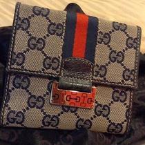 Gucci Gg Canvas Wallet Navy  Photo