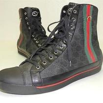 Gucci Gg Logo  High Top 'Supreme' Sneakers  Shoes / Size 10.5 G 11.5 Us Photo