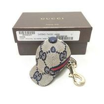 Gucci Gg Navy Cap Motif Bag Charm Key Ring Keychain W/box Excellent Photo