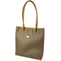 Gucci Gg Pattern Shoulder Bag Brown Beige Pvc Leather Italy Authentic Junk 1920 Photo