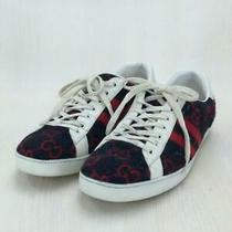 Gucci Gg Wool us10.5 Nvy Wool 548695 Shoes Size us10.5 Navy Sneaker From Japan Photo