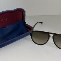Gucci Gg0015s 002 58-14-140 Men's/women's Aviator Sunglasses Havana Brown Photo
