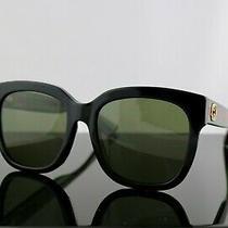 Gucci Gg0034sa 002 Black /green With Grey Lens Cat Eye Women Sunglasses 100% Uv Photo