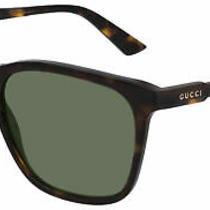 Gucci Gg0495s Dark Havana/green 57/16/150 Unisex Sunglasses Photo