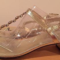 Gucci Gold Sandals 8.5 Photo