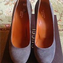 Gucci Grey Suede Pumps Photo