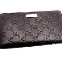 Gucci Guccissima Long Wallet Zip Around Wallet 112724 (Dh31336) Photo