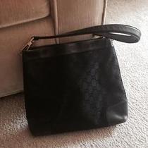 Gucci Handbag - Black With Black Gg Logo Photo