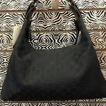 Gucci Handbag Horsebit Black Logo Medium Photo