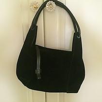 Gucci Hobo Bag                               Black Suede Handbag Authentic Photo