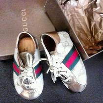 Gucci Infants Metallic Leather Sneakers Photo