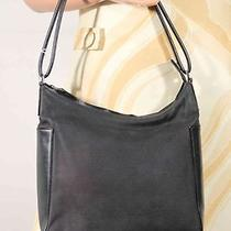 Gucci Italian Black Canvas Hobo Purse Shoulder Bag Tote Photo