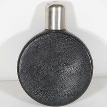 Gucci Italian Vintage Black Leather Round Hip Flask Bottle Mp Photo