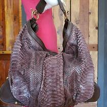 Gucci Jockey Python Snakeskin X Large Hobo Over Shoulder Purse Hobo Handbag  Photo